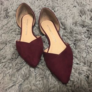 Berry Pointed Toe Flats